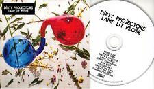 DIRTY PROJECTORS Lamp Lit Prose 2018 UK 10-trk promo CD