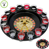 Evelots Drinking Shot Glass Roulette Game-Casino Style-16 Shot Glasses-Set/2