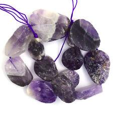 """18-40mm amethyst freeform slab nugget beads 16"""" strand"""