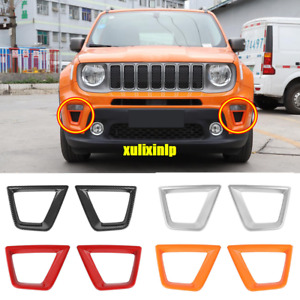 For 2019-2020 Jeep Renegade ABS Front Turn Signal Lamp Frame Cover Trim 2pcs