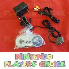 NEW AC Adapter Power Cord + AV Video Cables + Controller for Super Nintendo SNES