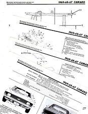 1967 1968 1969 CHEVROLET CAMARO MOTOR'S ORIGINAL CRASH BOOK ILLUSTRATIONS M OR
