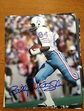 BILLY WHITE SHOES JOHNSON AUTOGRAPHED HOUSTON OILERS 8X10 PHOT0 #1 W/COA