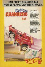 X2153 Hot Weels - Supe Changers 4 x 4 - Mattel - Pubblicità 1989 - Advertising