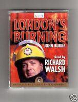 LONDONS BURNING - JOHN BURKE  - AUDIO BOOK CASSETTES - RICHARD WALSH