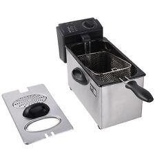Friteuse électrique 3L commercial en acier inoxydable amovible Réservoir NEUF