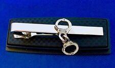 Handcuffs Tie Clip Handcuff Tie Bar Gift Idea Police Security