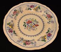 "Ridgways, Ridgway England, Lynton Blue, Vintage Transferware 9 7/8"" Dinner Plate"