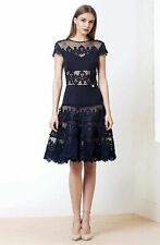 BRONX AND BANCO  Navy Blue  Flamenco Fit Flare Dress ( Size 10 )