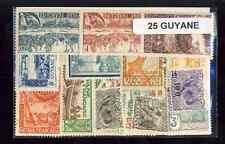 Guyane Française - French Guiana 25 timbres différents