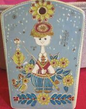 Vintage Norwegian Design by Inger Waage Tourist Ceramic Wall Hanging Folk Art