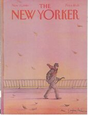 COVER ONLY~ The New Yorker magazine November 17 1980 ~ MIHAESCO ~Man in Wind