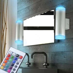 2er Set RGB LED Wand Lampen Kinderzimmer Leuchten Up Down dimmbar Fernbedienung