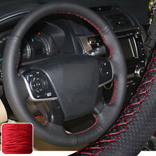 Hand Stitch on Wrap Steering Wheel Cover for Toyota Camry 2012 13 2014 4-spoke