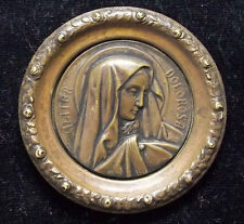 """MATER DOLOROSA"" OLD OL. OF SORROWS PENDANT PLAQUE, ART NOUVEAU, FLOWERS, RELIEF"