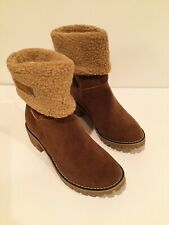 Women's NEW Camel Colored Fur Lined Boots Size 40