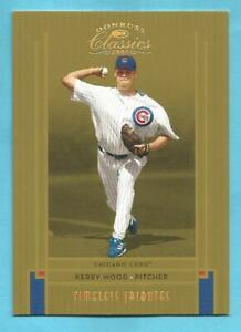 KERRY WOOD 2005 Donruss Classics Timeless Tributes Gold #134 Cubs #d 03/50