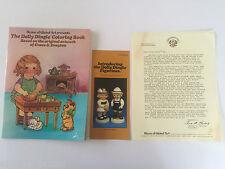 1983 DOLLY DINGLE Fan Club Membership Coloring Book & Fan, GLOBAL ART JAPAN