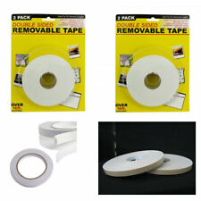 4 Roll Double Sided Tape Faced Foam White 3/4