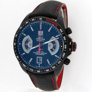 TAG Heuer Grand Carrera Chronograph Caliber 17 Titanium LNIB 43mm CAV518B w/Box