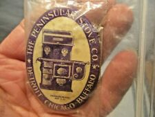 """New listing vintage The Peninsular Stove Co. 2.75"""" Blue Pocket Mirror that is in good shape"""