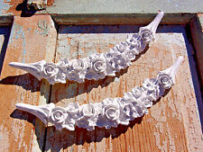 SHABBY & CHIC FURNITURE APPLIQUE ROSE SWAGS * 2 PC * $5.95 NO LIMIT SHIPPING