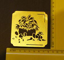 Brass/stencil/Square/Egg/Basket/Easter/Emboss/Embossing/Nice
