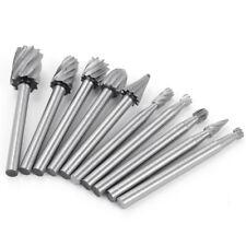High Speed Cutter Bit Set For Dremel Rotary Tool die grinder HSS steel 10 Piece!