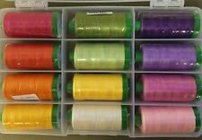 FULL BLOOM Aurifil Collection Fourth & Sixth Designs 12 Lg 40 Wt. Thread Cotton