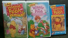 3 VHS Winnie the Pooh - A Valentine for You, Un-Valentine's Day,The Honey Tree
