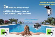 2x ! WOOX R4052 - Smart Outdoor- Steckdose, IP66, Sprach-& APP + Alexa + Google