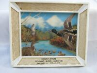 """Vintage Framed Picture Store Advertising Item """"3D"""" Scene With Ducks"""