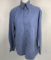 Ben Sherman Mens Blue Long Sleeve Shirt Size 2 Medium Button Up