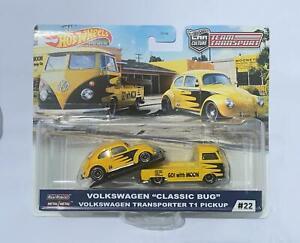 HOT WHEELS TEAM Transport Volkswagen Classic Bug Moon T1 pickup