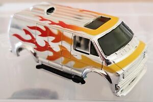 Tyco Curve Huggers Slot Car Body  1977 Silver Streak Supervan (New Old Stock)