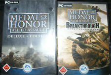MEDAL OF HONOR ALLIED ASSAULT DELUXE EDITION PC + SPEARHEAD & SOUNDTRACK + mehr