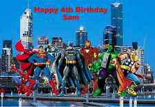 Personalised A4 Superhero Edible Wafer Paper Cake Topper
