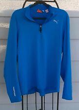 Puma Men's Blue Long Sleeve Shirt Size Medium