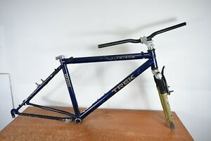 "18"" Vintage Trek 8000 Mountain Bike Frameset Original Rock Shox Shock Fork"