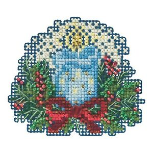 Candlelight Beaded Cross Stitch Kit Mill Hill 2015 Winter Holiday MH185306