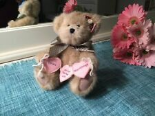 """Boyds Bear Sissy Bearhugs """"Sisters Are Tied Together With Heartstrings"""""""