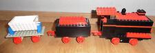 Lego Eisenbahn Lok Tender 4,5 Volt  mit Güterwagen Lore... 70er