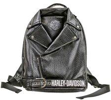 Harley-Davidson® Girls Black Polyurethane Biker Jacket Back-pack Zip Bag 7130761