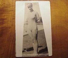 1910's Francis Cowell Champion Swimmer Mid Pacific Carnival TH Hawaii AZO RPPC