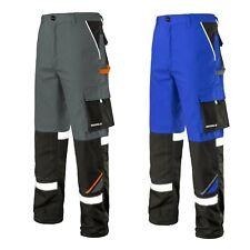 Arbeitshose Bundhose Warnschutz Hose grau blau Warnhose Berufskleidung Gr. 44-64