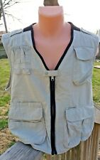 Columbia Fishing Vest Mens Large Multi Pocket Khaki