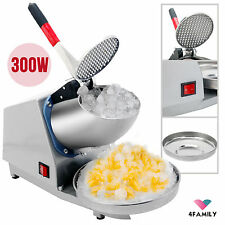 143Lbs 300W Electric Ice Crusher Shaver Machine Snow Cone Maker Shaved Ice