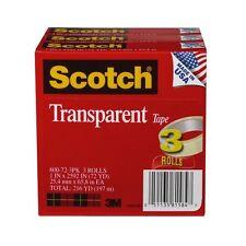 "Scotch Glossy Transparent Tape - 1"" Width X 72 Yd Length - 3"" Core - Photo-safe,"