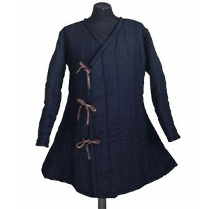 X-MAS Thick Padded Medieval Blue Gambeson suit of quilted costumes sca HT9