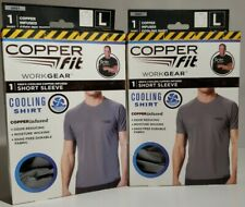 2 - Copper Fit Work Gear Men's Cooling Copper Infused Short Sleeve Shirts Large